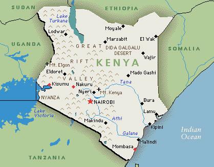 Kenya fun facts visit afrika visit afrika kenya map gumiabroncs Images